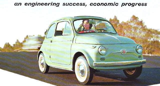 Une publicité d'époque, Fiat 500 N, 1957