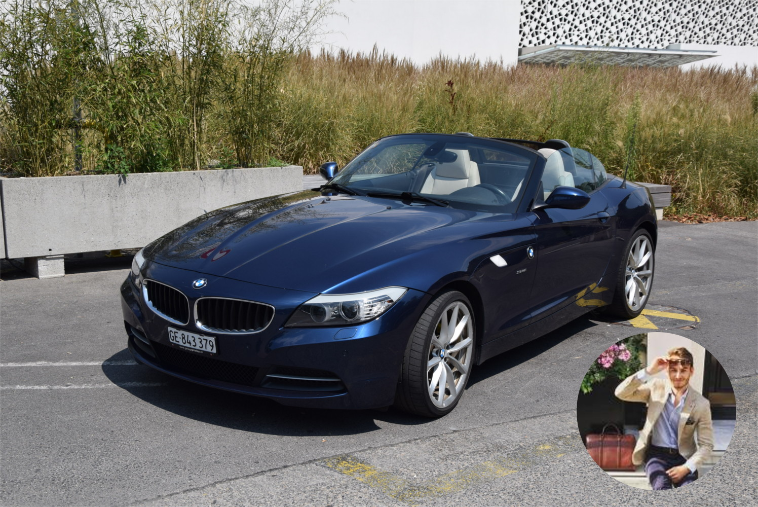 Samuel Brown et sa BMW